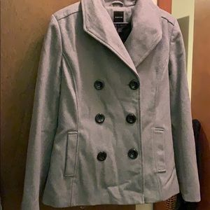 Rampage Gray Peacoat size large